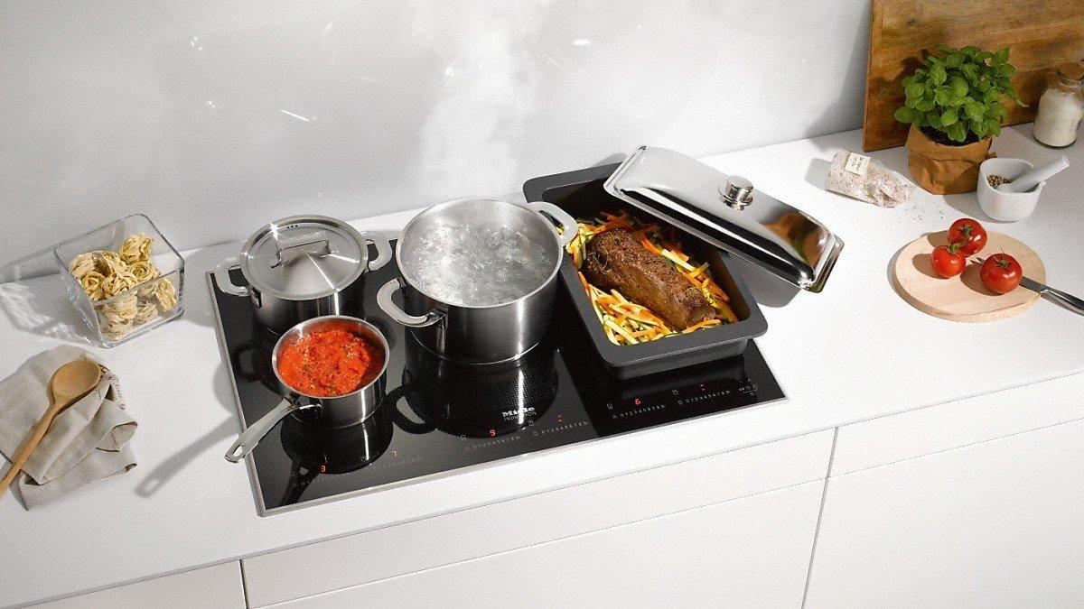 Miele-cocina de inducción 6366-1 KM 80 cm: Amazon.es