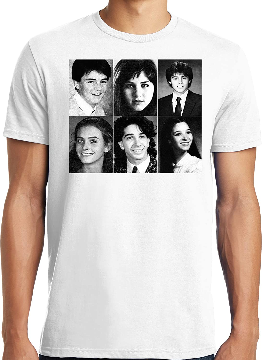 6b9d78c31 Publiciteez Friends Cast Yearbook Picture T-shirt: Amazon.ca: Clothing &  Accessories