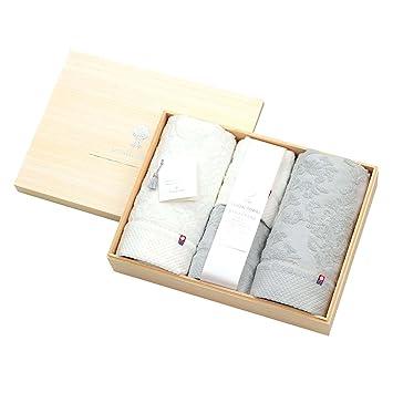 774cfb2d91329c 大同 タオルギフトセット ホワイト・グレー サイズ:バスタオル約60x120cm フェイスタオル約