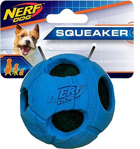 Nerf Perro pequeño de Goma Envuelto Bash Pelota de Tenis Azul ...