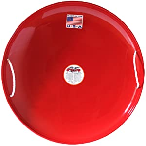 Flexible Flyer Metal Snow Disc Saucer Sled. Round SNO Slider Winter Toy