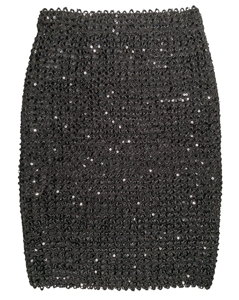 3709d4a72787c FLECTIT Womens Sexy Shining Sequin Mini Skirt Elastic Bandage Bodycon  Hobble Pencil Skirts