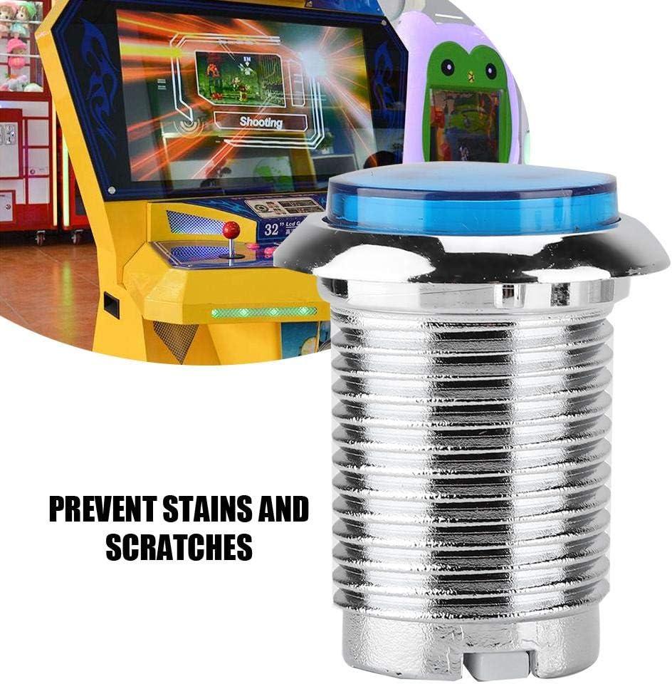Garsent Botones Pulsadores Arcade Casete 3D L/ámpara LED Redonda Botones Pulsadores Iluminados para Arcade Joystick para Juegos de M/áquinas Arcade con Fuerte Resistencia al Desgaste