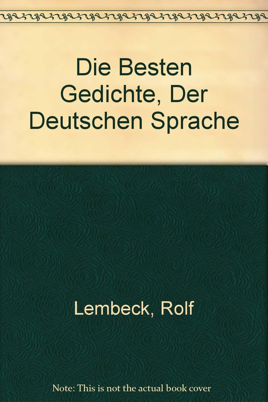 Die Besten Gedichte Der Deutschen Sprache Reihe Taschen