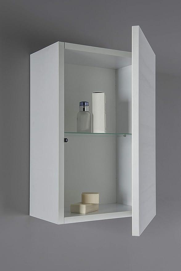 Neve Bagno sospeso 70 cm con lavabo specchiera e Piccolo pensile AM019NE MOBILIA