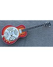 Hollow body Electric Resonator Guitar in Sunrise color