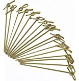 """Yinew 100pcs 4.7"""" Bamboo Knot Skewers Cocktail Picks"""