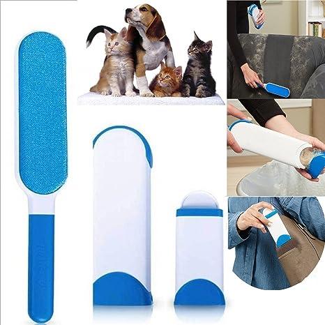 Doble cepillo quitapelos reversible para ropa y pelo de perro y gato