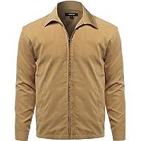 32232b676f7ec Men s Solid Classic Golf Long Sleeves Zipper Closure Thin Layer Jacket