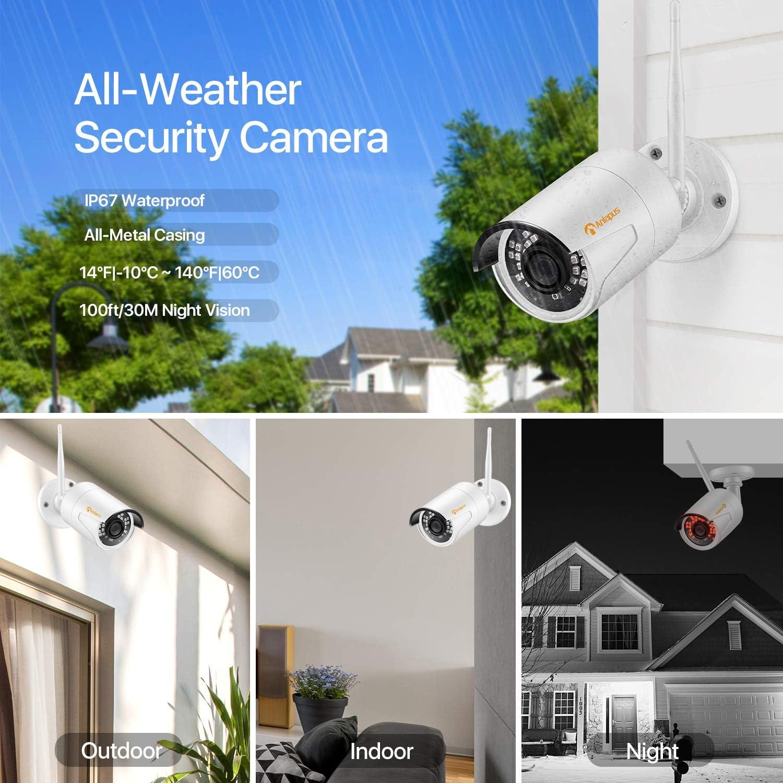 Anlapus 1080P Kit de Cámaras Seguridad