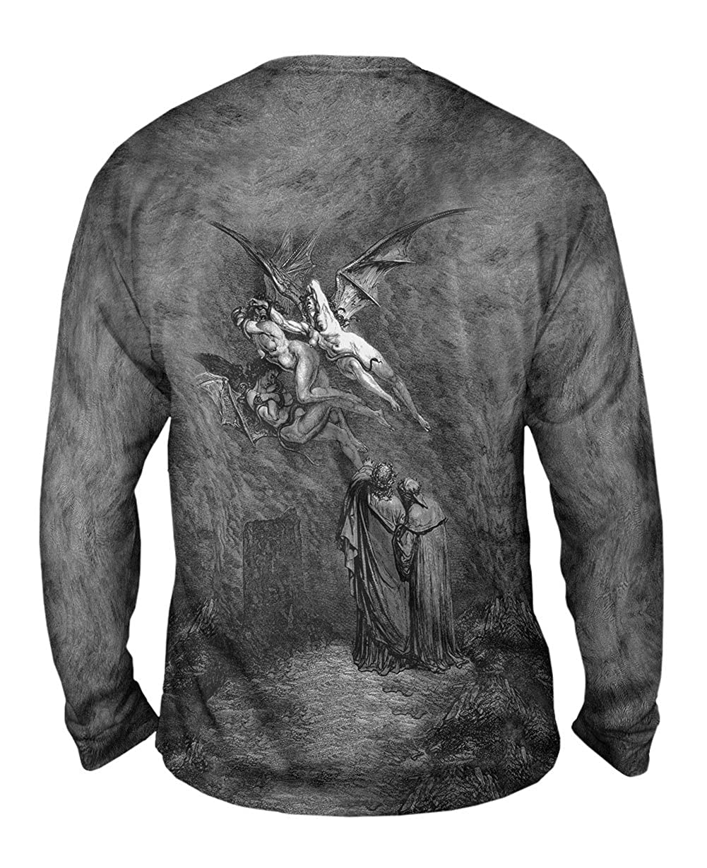 Yizzam- Gustave Dore 1857 -TShirt- Mens Long Sleeve The Inferno Canto 9