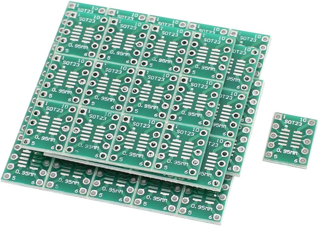 Aexit 50Pcs 13mmx10mm Computer Components SOT23 MSOP10 UMAX to DIP10 0.5mm//0.95mm PCB Motherboards Adapter Converter