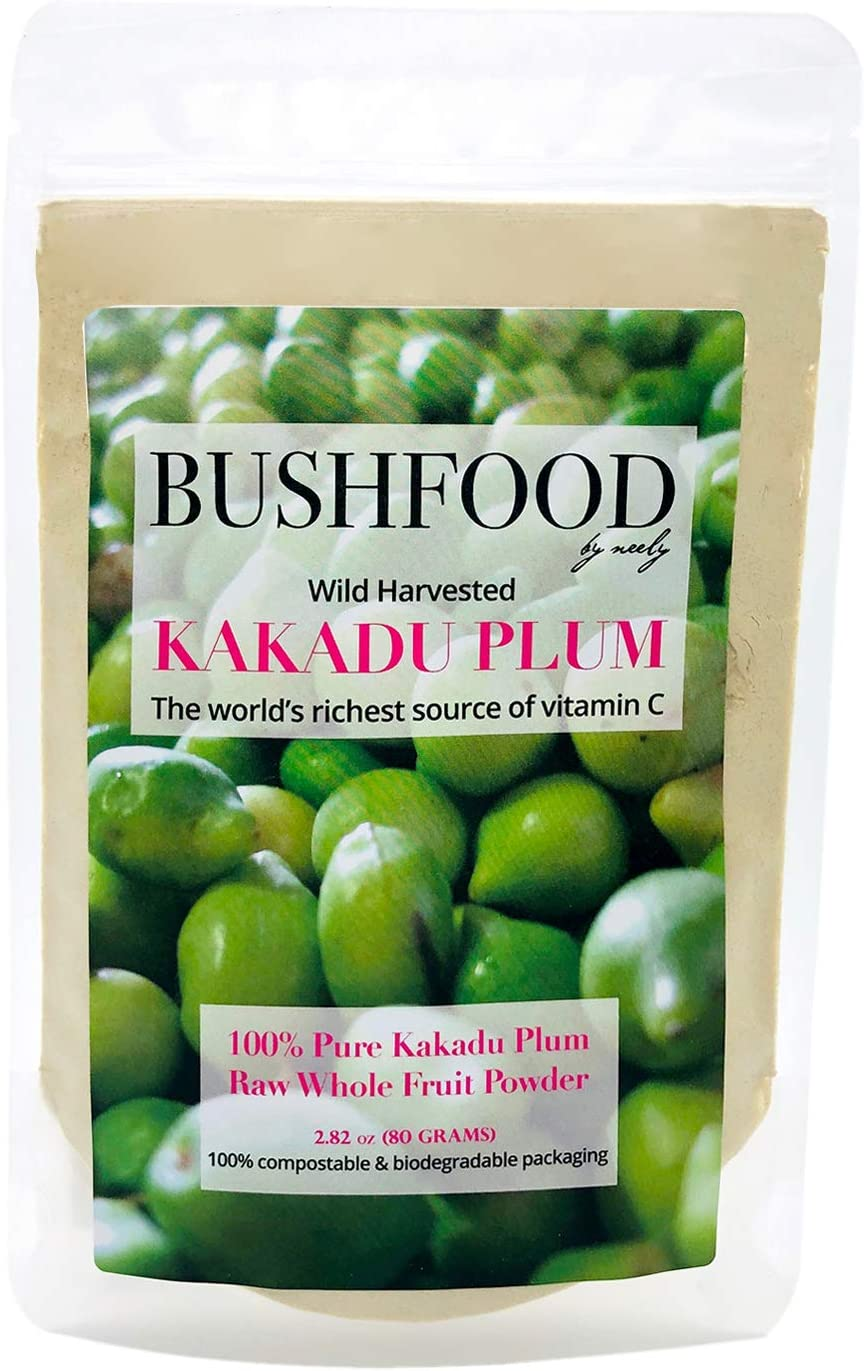 Kakadu Plum 100% Pure Premium Grade (A) Superfood Powder (80 Grams) - Nature's Richest Source of Vitamin C, High in Antioxidants, Immunity Boosting (2.8 OZ)