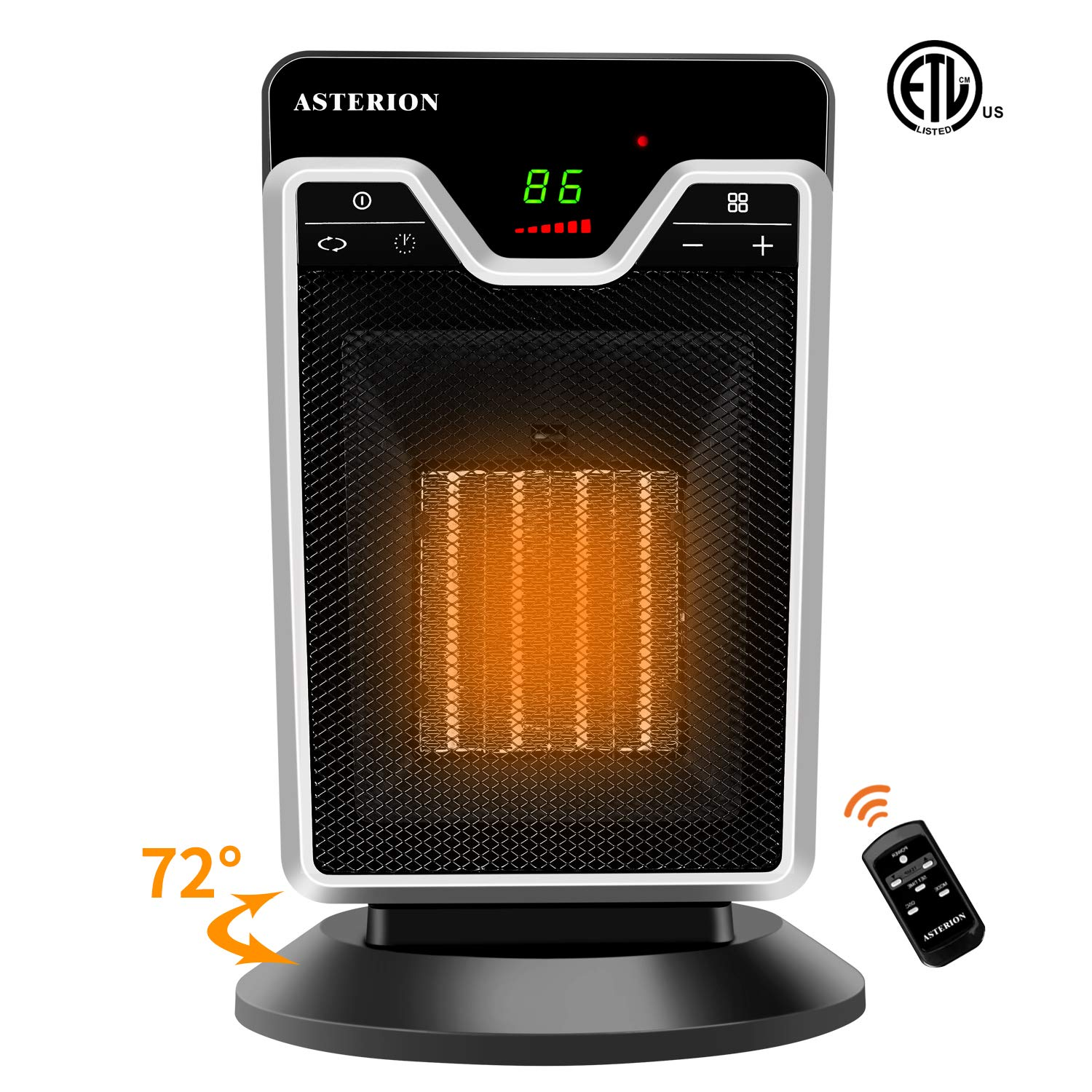 ASTERION Portable Heater with Adjustable Thermostat