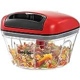 Pull Food Chopper, Manual Food Chopper Nut Chopper Easy to Clean, Mini Hand Vegetable Chopper for Garlic, Nut, Onion…