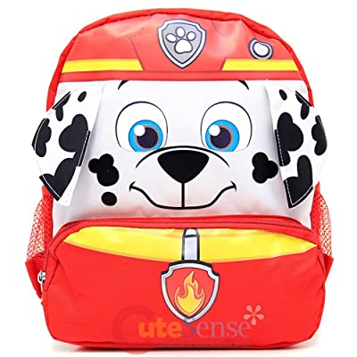 """Nickelodeon Paw Patrol Face 3D Small 12"""" Backpack - BRAND NEW - Licensed Product 