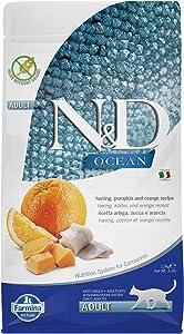 Farmina N&D Ocean Herring Pumpkin and Orange Dry Cat Food 3.3 Pounds