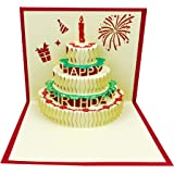 3D Pop Up Birthday Cards,Birthday Greeting Cards Handmade Happy Birthday Cards & Envelopes for Sister, Mom, Wife, Kids…