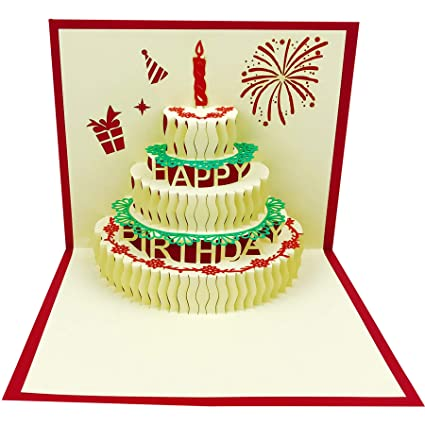 Amazon 3D Pop Up Birthday Cards Greeting