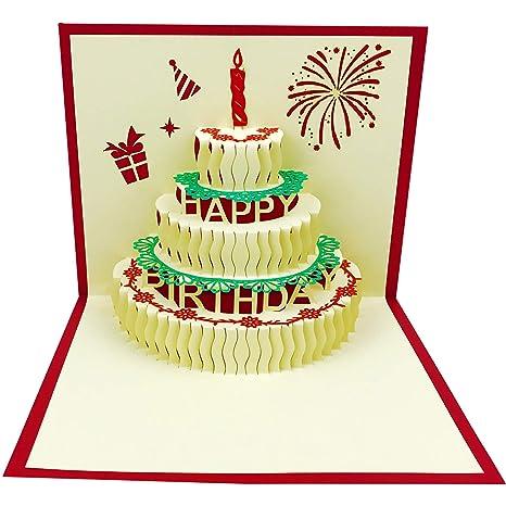 3d Pop Up Birthday Cardsbirthday Greeting Cards Handmade Happy Birthday Cards Envelopes For Sister Mom Wife Kids Boy Girl Friend