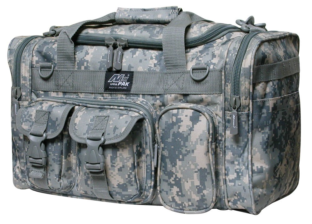 18'' 1200 cu.in. Tactical Duffle Military Molle Gear Shoulder Strap Range Bag Digital Camouflage by Nexpak