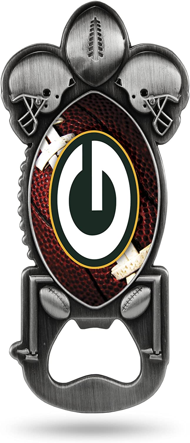 NFL Rico Industries Magnetic Metal Bottle Opener Party Starter, Green Bay Packers