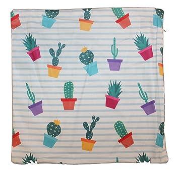 Almohada Funda De Cojín con cactus patrón de 40 x 40 cm ...