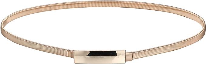 Babeyond elasticizzata cintura decorativa da donna in metallo sottile elastica