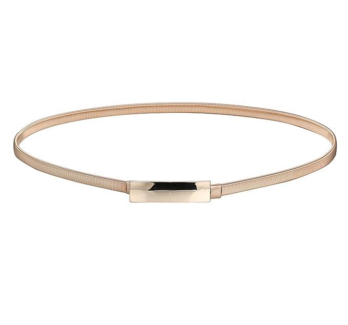 BABEYOND Cinturones ajustados de las hojas del metal de las mujeres  Cinturón elástico de la cintura Cinturones elásticos para los vestidos  Cintura ... caf0b07fedda