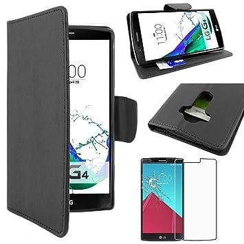 ebestStar - Funda LG G4 H815, G4 Dual-LTE [149 x 76.2 x 9.8mm, 5.5] Carcasa Cartera Cuero PU, Funda Libro Billetera Ranuras Tarjeta, Función ...