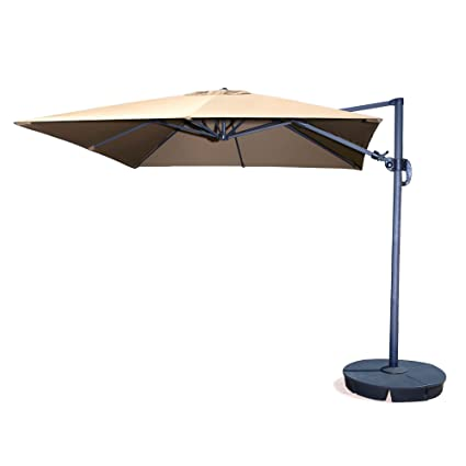 Amazon Com Santorini Ii 10 Ft Square Cantilever Umbrella In Beige