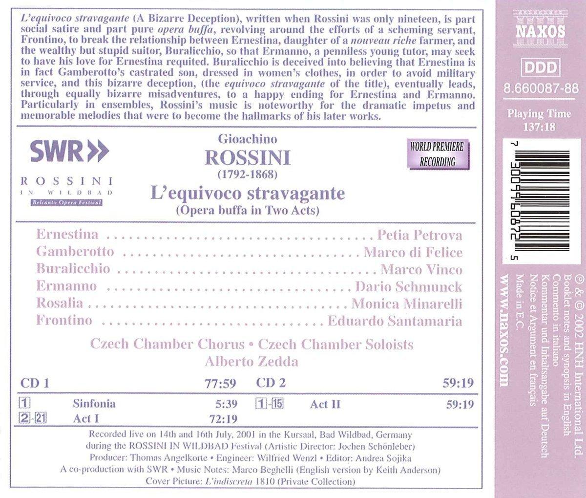 L'Equivoco Stravagante (Rossini in Wildbad Festival 2001)