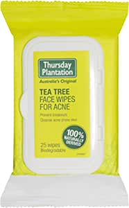 Thursday Plantation Tea Tree Face Wipes for Acne, 25 count