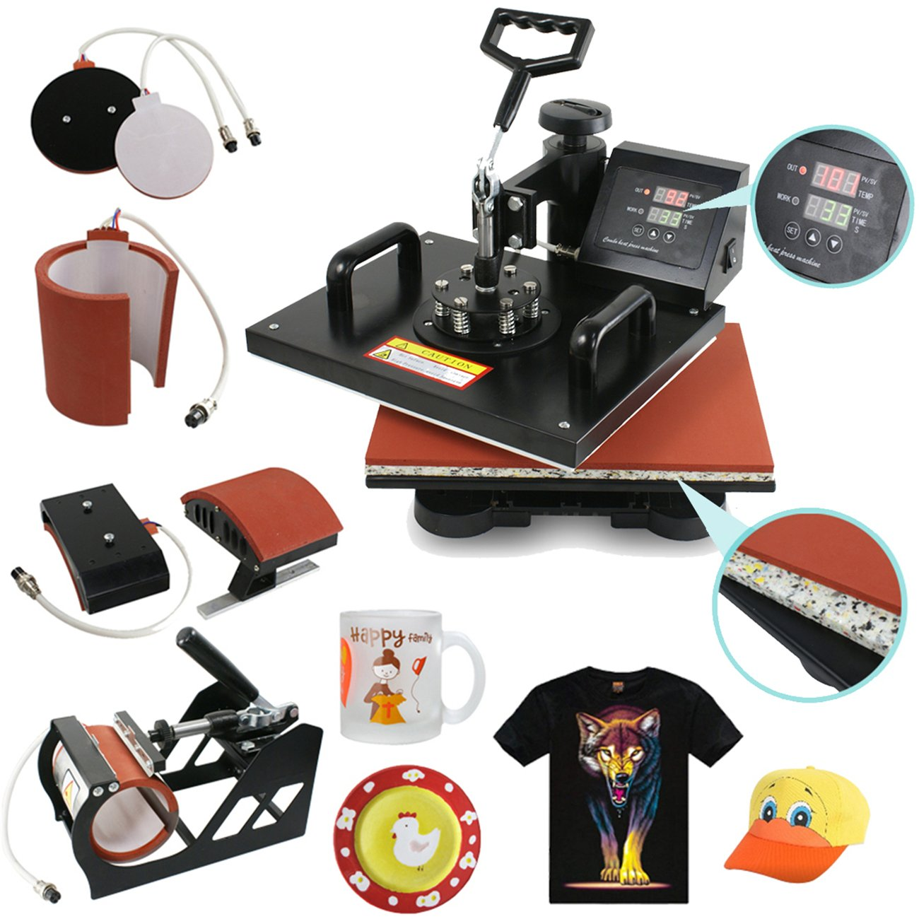SegaweDigital Transfer Sublimation Heat Press Machine by Segawe