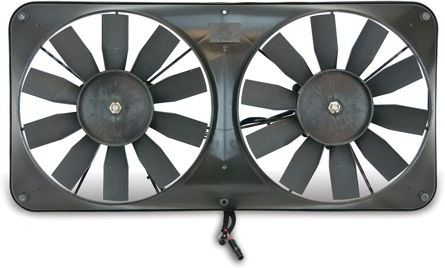 "Flex-a-lite 330 Compact Black 11"" Dual Electric Engine Cooling Reversible Fan Kit"