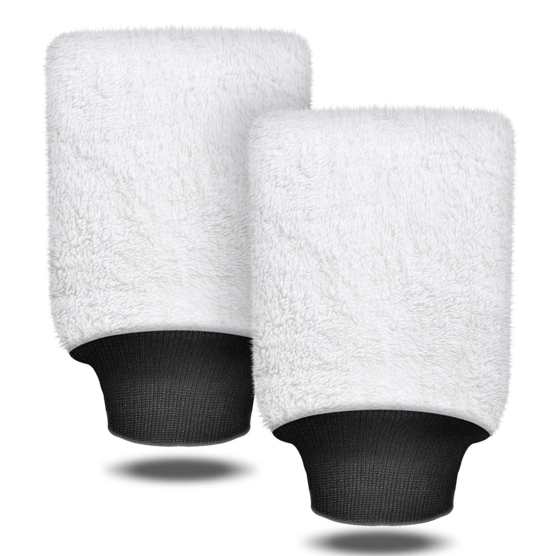Auto Waschhandschuh Microfibre Wash Mitt 2 Stücke Premium Mikrofaser Waschhandschuh zur Auto Reinigung Autowäsche