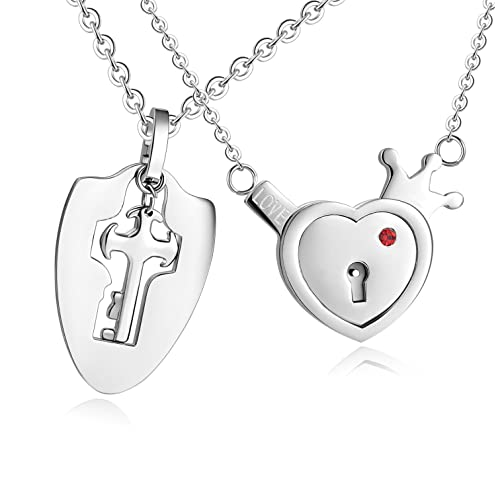 c0382501b3 SunnyHouse Jewelry His & Hers Matching Set Your Key to My Heart Couple  Pendant Necklace Key