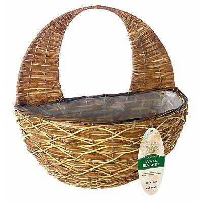 """Gardman R487 Lattice Hanging Wall Basket, 16"""" Wide x 9"""" Deep: Garden & Outdoor"""