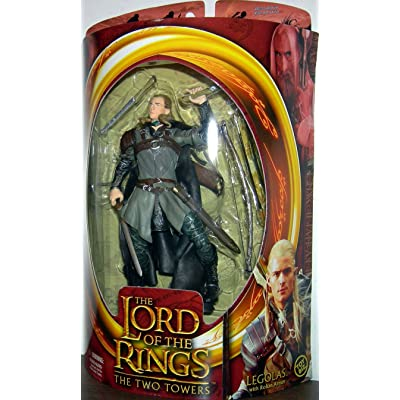Lord of the Rings Two Towers Action Figure Helms Deep Legolas: Toys & Games
