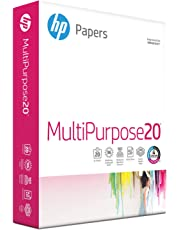 HP Printer Paper, Multipurpose20, 8.5 x 11 Paper, Letter Size, 20lb paper, 96 Bright, 500 Sheets / 1 Ream (112000R) Acid Free Paper