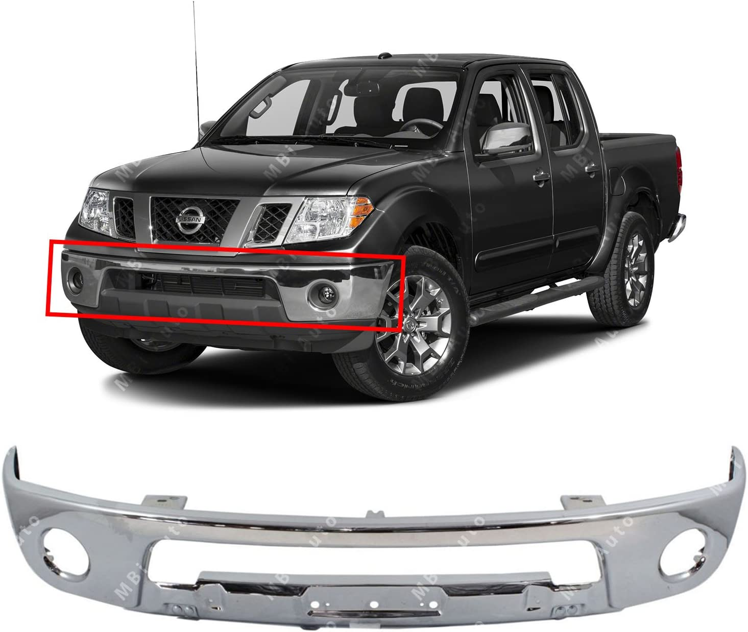 NEW Chrome Steel Rear Bumper Face Bar Shell for 2005-2018 Nissan Frontier 05-18