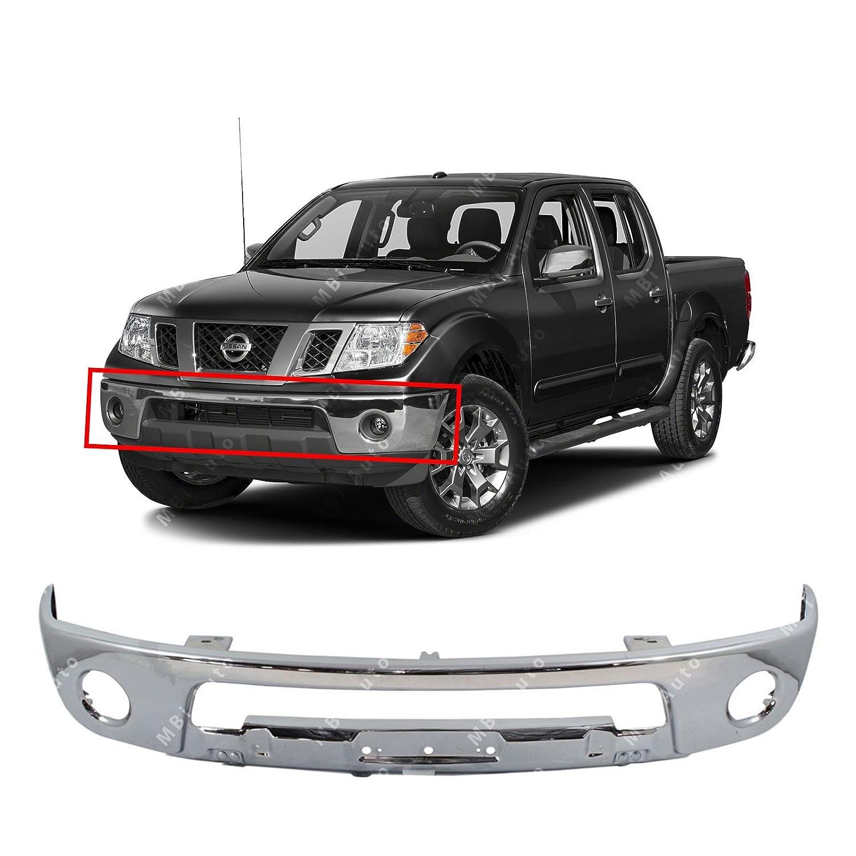 Nissan Frontier Bumper >> Mbi Auto Chrome Steel Front Bumper Face Bar Shell For 2005 2017 Nissan Frontier Pickup W Fog 05 17 Ni1002143