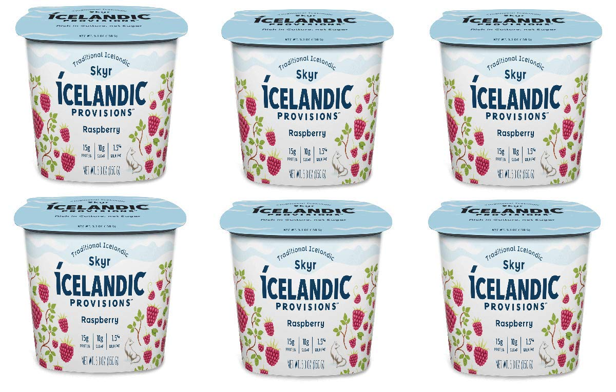 Icelandic Provisions, Skyr Raspberry Yogurt (Pack of 6)