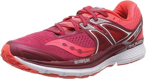 Saucony Triumph ISO 3, Zapatillas de Running para Mujer, Rosa (Berry/Coral), 43 EU: Amazon.es: Zapatos y complementos