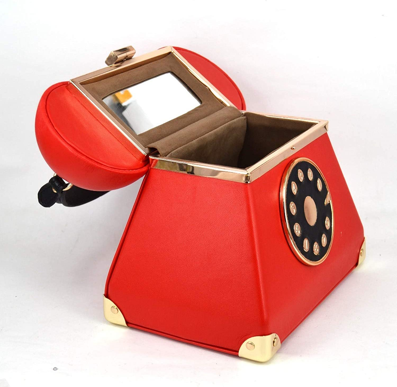 rainwater-shop Borsetta da sera in pelle sintetica in stile vintage, colore rosso e nero Cruz V2 Fresh Foam