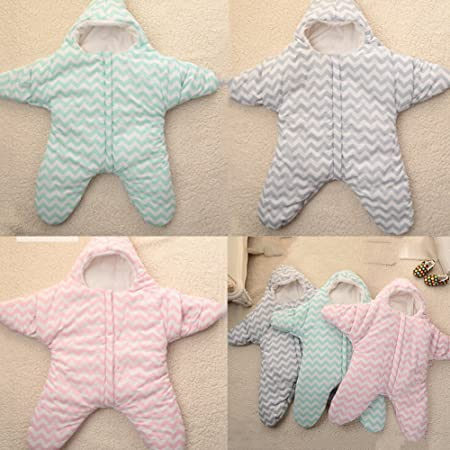 Amazon.com : EXIU Newborn Baby Girl Boy Autumn Winter Cotton Sleeping Bag Blanket 0-6 months : Baby