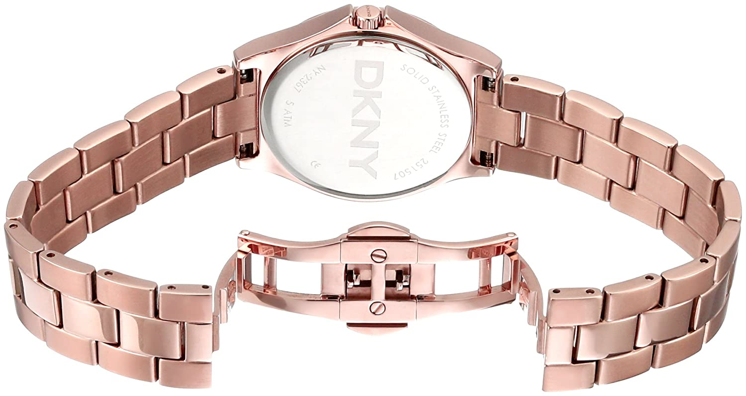 Amazon.com: DKNY Womens NY2367 PARSONS Rose Gold-Tone Stainless Steel Watch: Watches