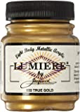 Jacquard Lumiere Metallic Acrylic Paint 2.25 Ounces-True Gold