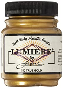 Jacquard Products 442392 Lumiere Metallic Acrylic Paint 2.25 Ounces-True Gold