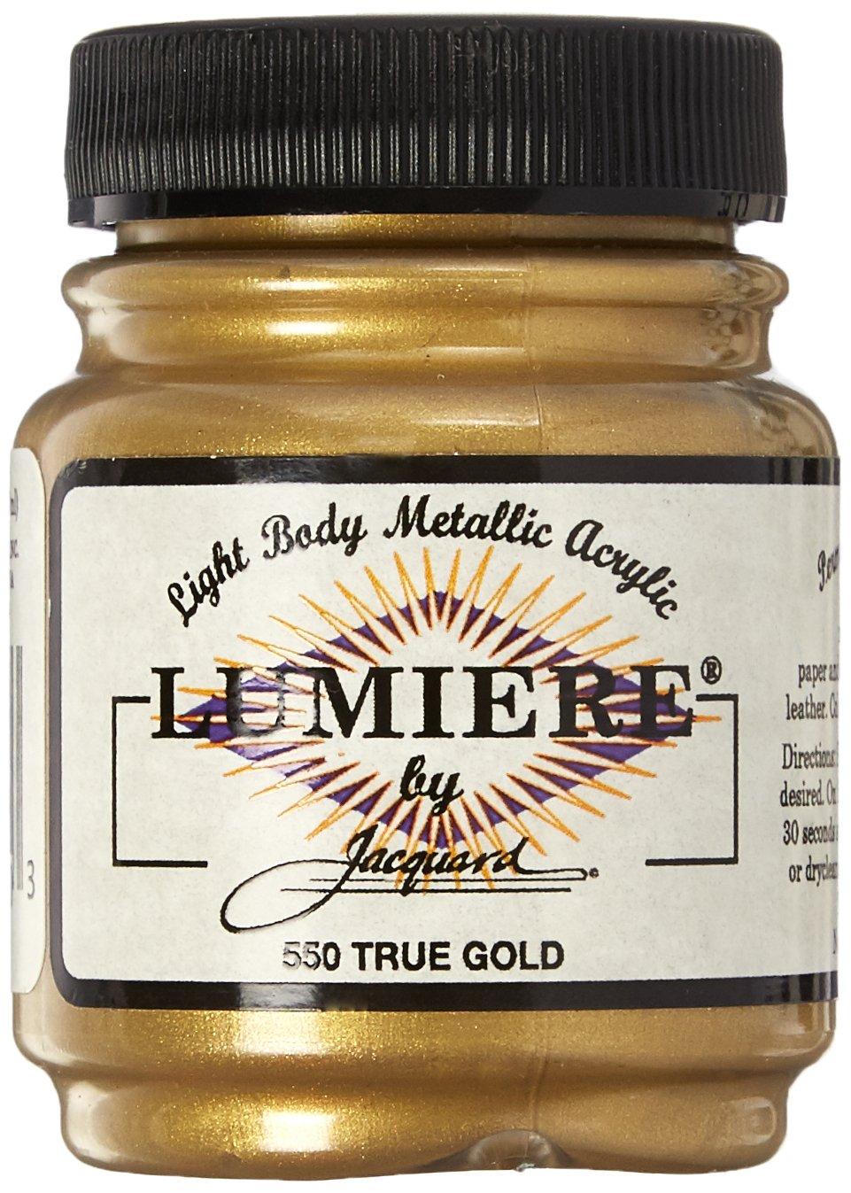 Acrilico Jacquard Lumiere 64gr. Oro verdadero